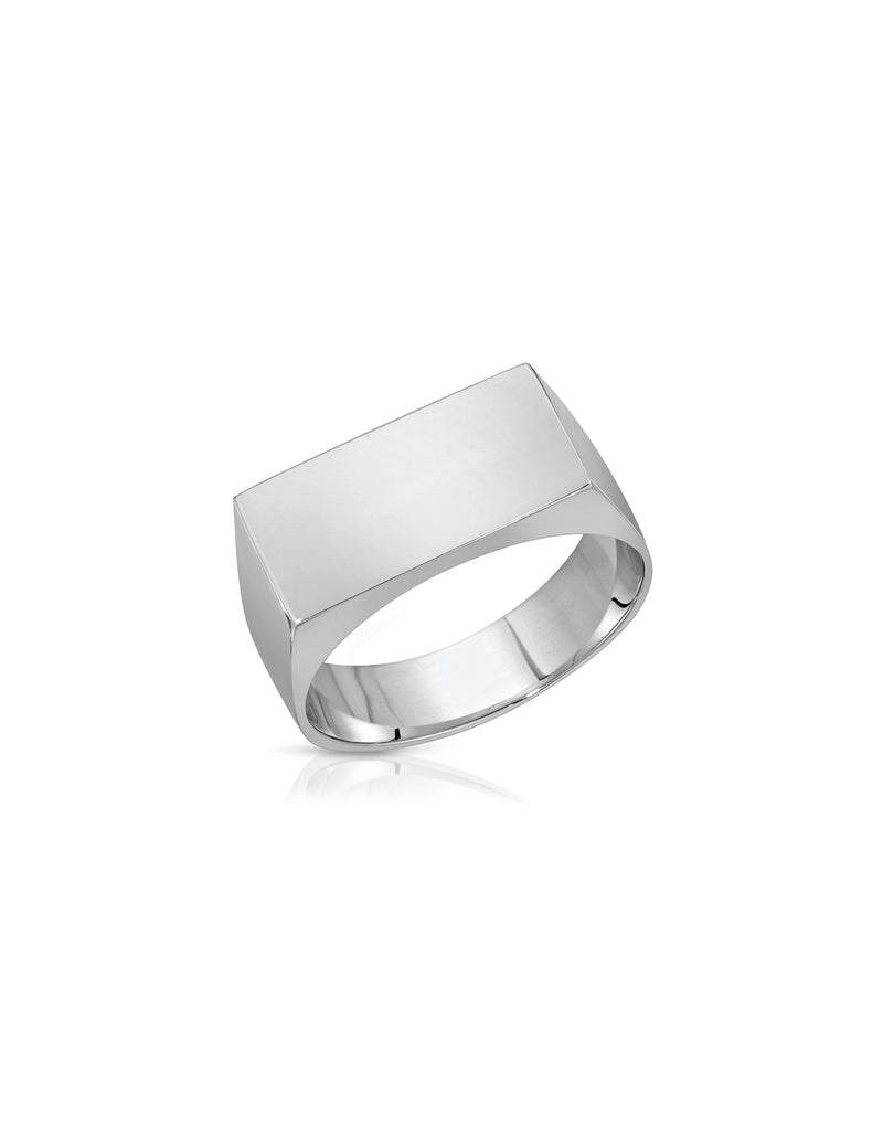 Sterling Silver Block Ring