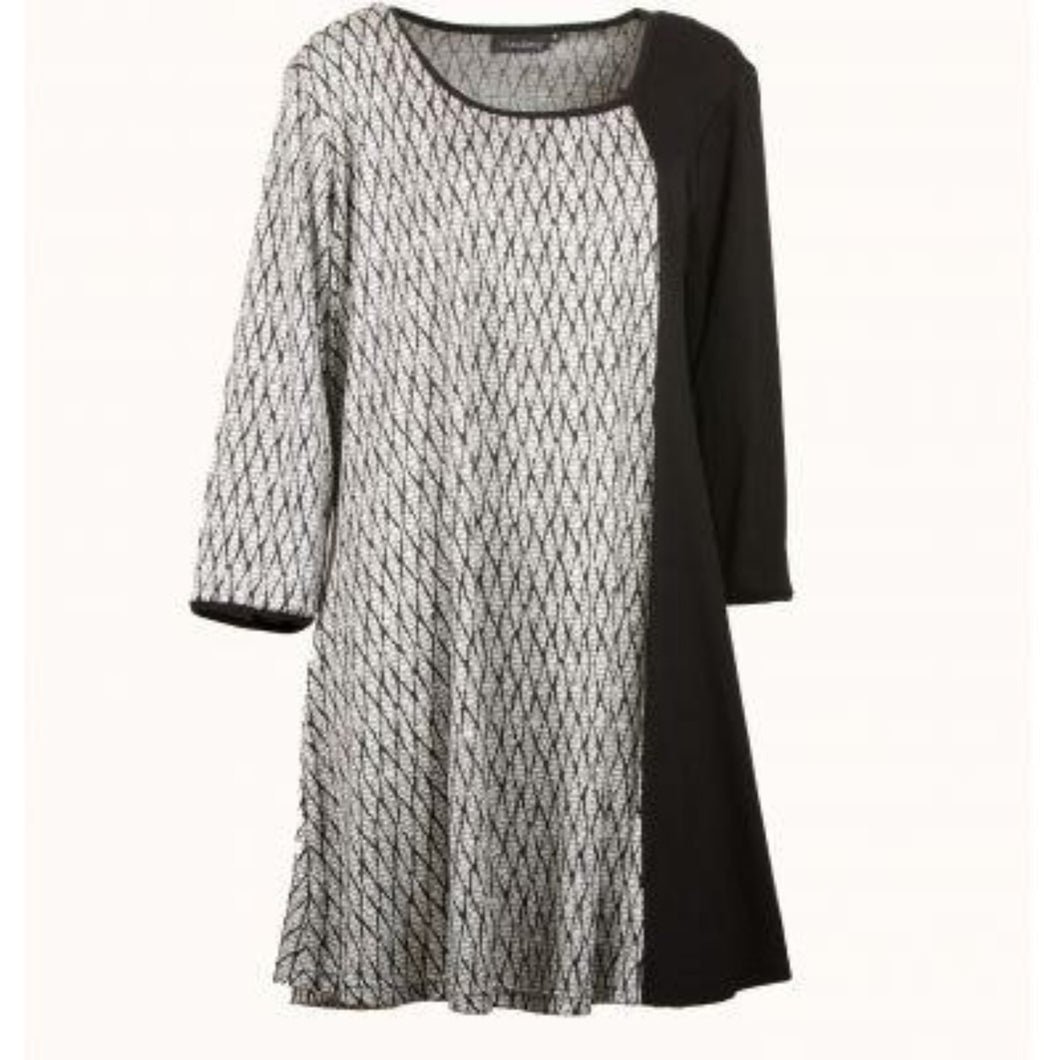 Black & White Melange Tunic