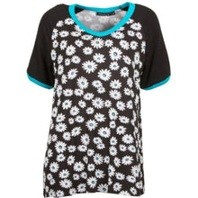 Flower Print Top w.Short Sleeves