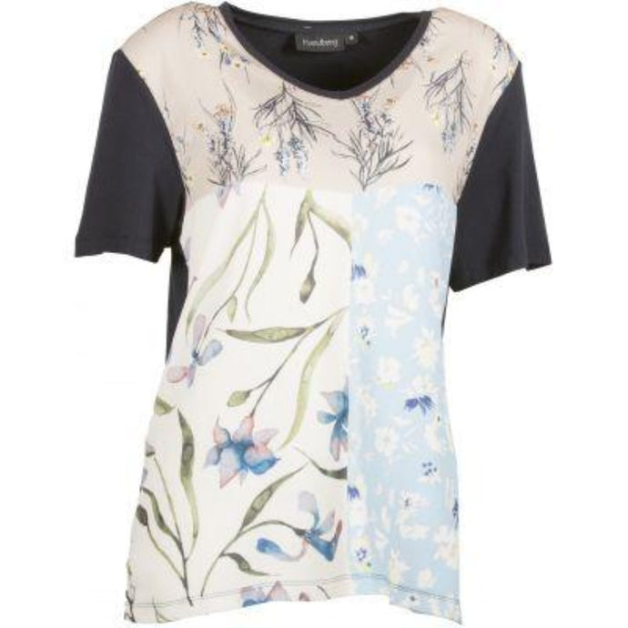 Floral Blocking ss Top