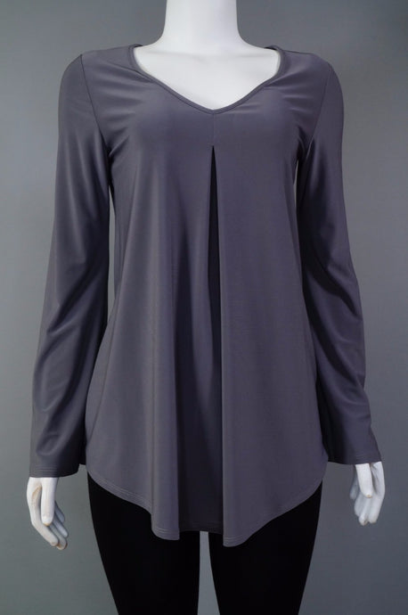 V-neck Tunic w.Pleat ls