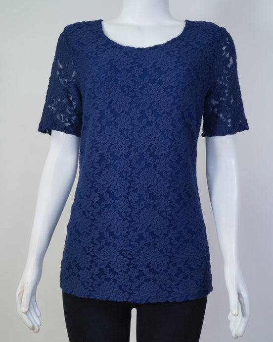 Jane Lace ss Blouse NAV