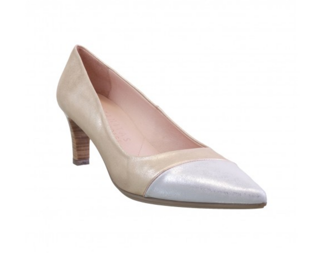 Two Tone Pump GLD/SLV 2TO