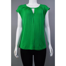 Viscose Top w.Keyhole ns GRN