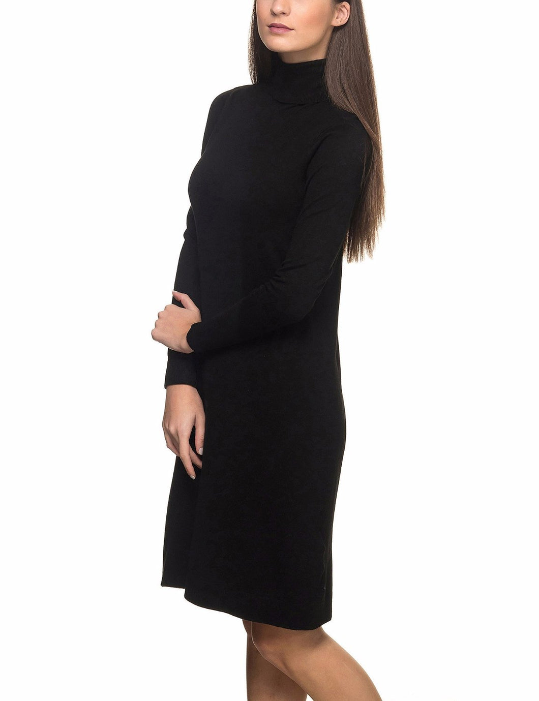 Aida ls Rollneck Dress Knit