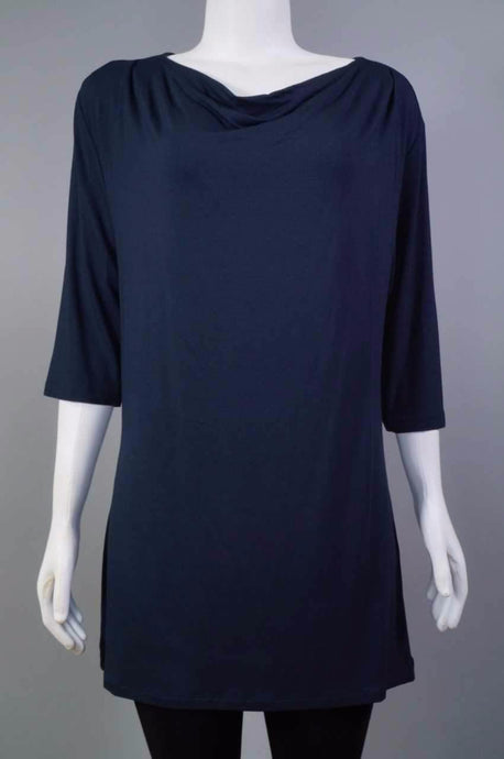 Plain Long 1/2 slv Shirt NAV