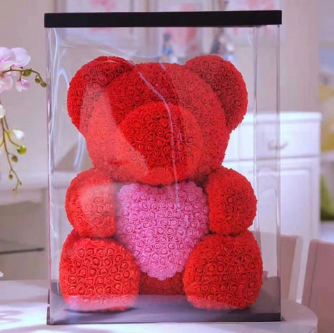 Big Deluxe Rose Bear - Das Blumen México