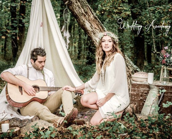 'Hippie Chic' inspiration photoshoot from the Wedding Designer Class o