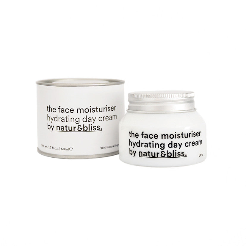 Face moisturiser, hydrating day cream, natural skincare. Crema hidratante de día, cosmética natural.