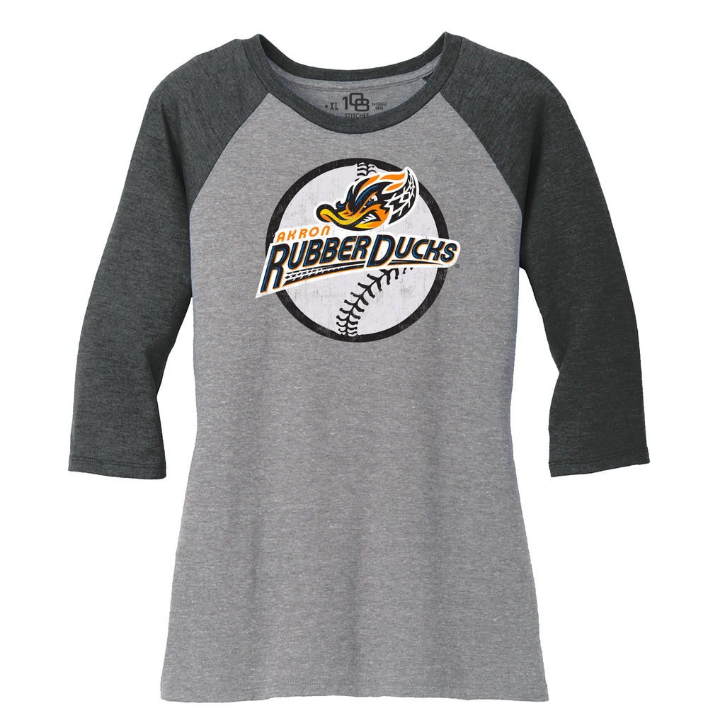 Akron RubberDucks Ladies Circle Raglan