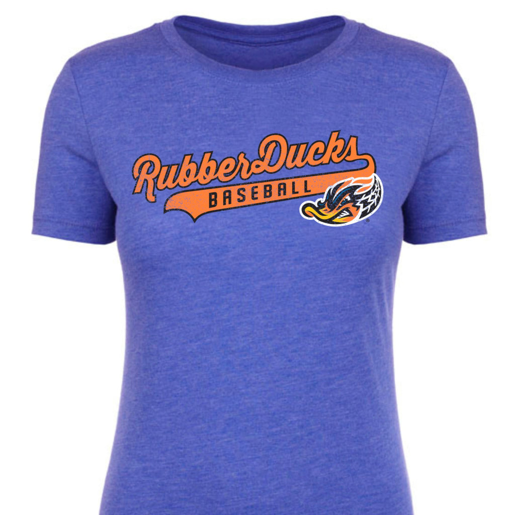 Akron RubberDucks Ladies Tail Script Tee