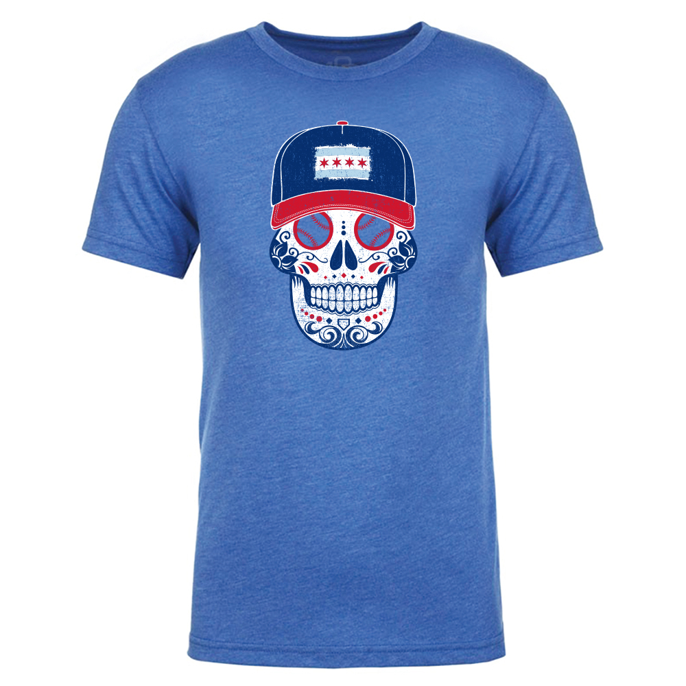 Chicago - Men's City Flag Sugar Skull Tee