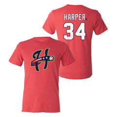 Bryce Harper - Harrisburg Senators Name and Number Tee