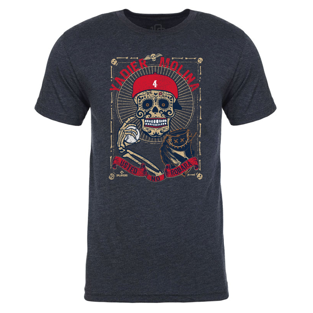 Yadier Molina - Day of the Dead Tee (Navy)