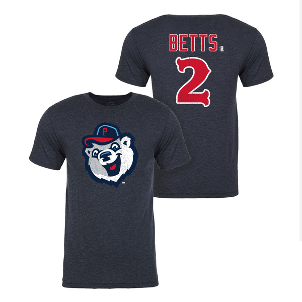Mookie Betts - Pawtucket Red Sox Name and Number Tee