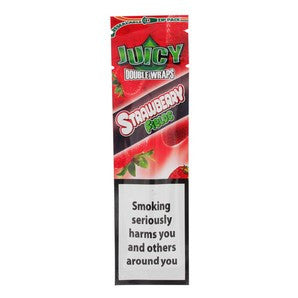 JUICY JAY BLUNTS STRAWBERRY FIELDS CIGAR ROLLING PAPERS (2 PIECES PER PACK) - ZREYAZ
