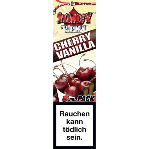 JUICY JAY BLUNTS CHERRY VANILLA CIGAR ROLLING PAPERS (2 PIECES PER PACK) - ZREYAZ