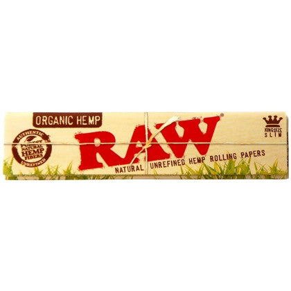 RAW King Size slim Organic Hemp Papers - ZREYAZ