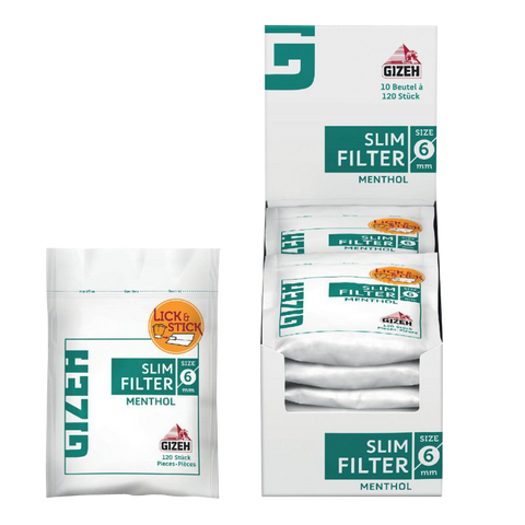 Gizeh Slim Filter Cotton Tips (Menthol) - ZREYAZ