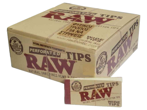 Raw Perforated Wide Tips - ZREYAZ