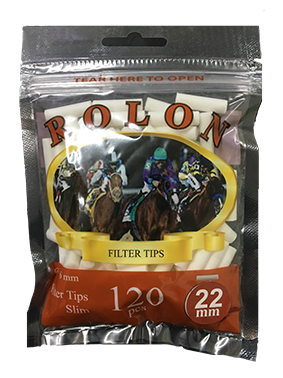 Rolon Cotton Filter Tips (22 MM)