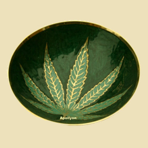 Brass Weed leaf mixing Bowl | Zreyaz | India | 420 sale