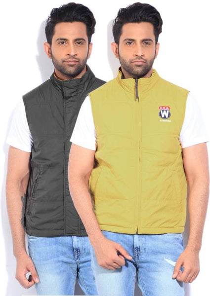 Wrangler Sleeveless Solid Men's Quilted Jacket - ZREYAZ