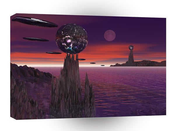 3d Art Alien Outpost A1 Canvas