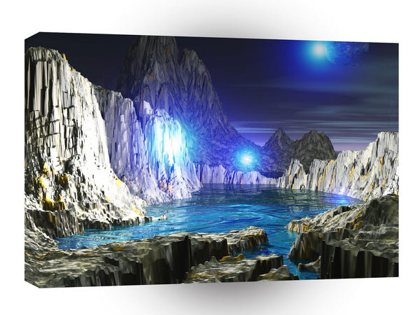 3d Art Blue Moon A1 Canvas