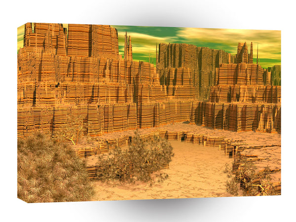 3d Art Canyon Caress A1 Canvas
