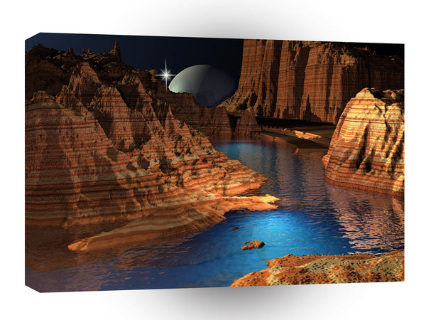 3d Art Cool Canyon A1 Canvas