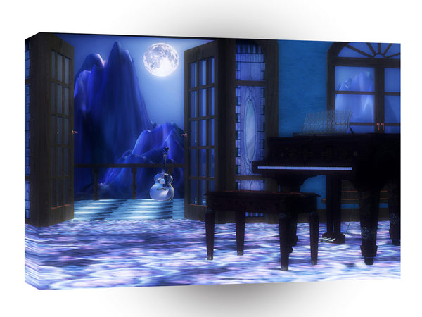 3d Art Fantasy And Sound A1 Canvas