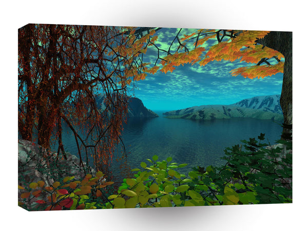 3d Art Hidden Lake A1 Canvas