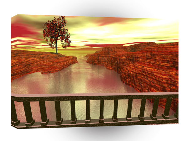 3d Art Morning Walk A1 Canvas