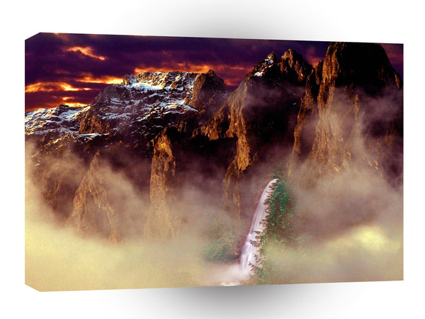3d Art Mystical Mountain A1 Canvas