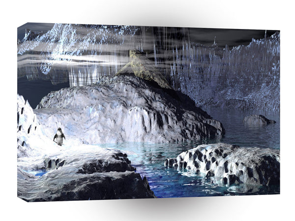 3d Art Penguin Fantasy A1 Canvas