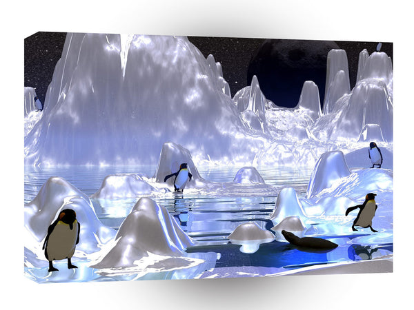 3d Art Penguin Holiday A1 Canvas