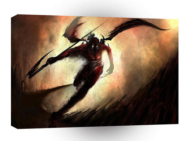 Abstract Angel Dark Devil A1 Canvas