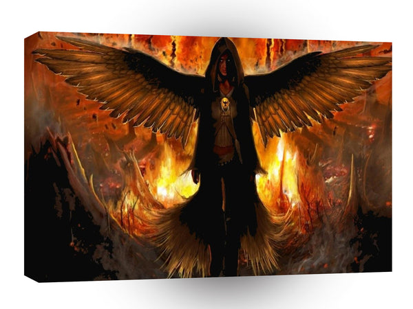 Abstract Angel Hell Fire A1 Canvas