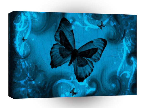Abstract Animal Blue Butterfly A1 Canvas