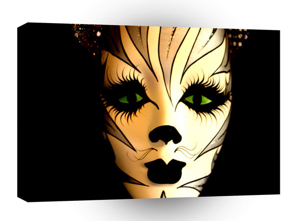 Abstract Animal Cat Mask A1 Canvas