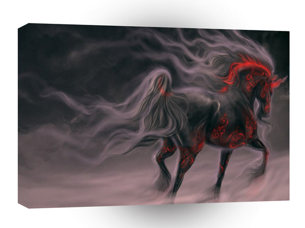 Abstract Animal Night Horse A1 Canvas