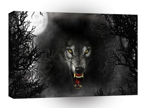 Abstract Animal Snarl Wolf A1 Canvas