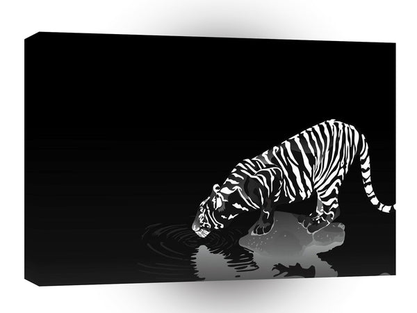 Abstract Animal Stripped Tiger A1 Canvas