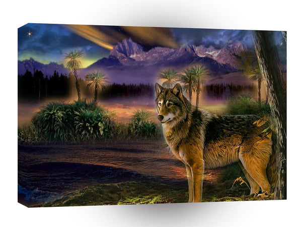 Abstract Animal Wolf Scene A1 Canvas