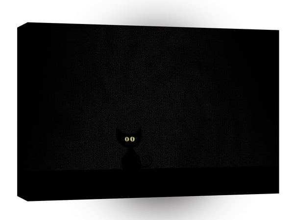 Abstract Animals Black Cat Invisible A1 Canvas