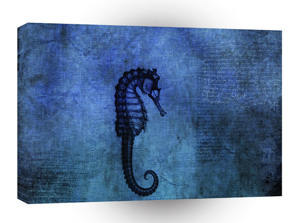 Abstract Animals Blue Sad Seadragon A1 Canvas
