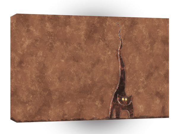 Abstract Animals Long Tailed Creepy Cat A1 Canvas