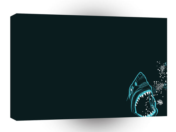 Abstract Animals Shark Burp A1 Canvas