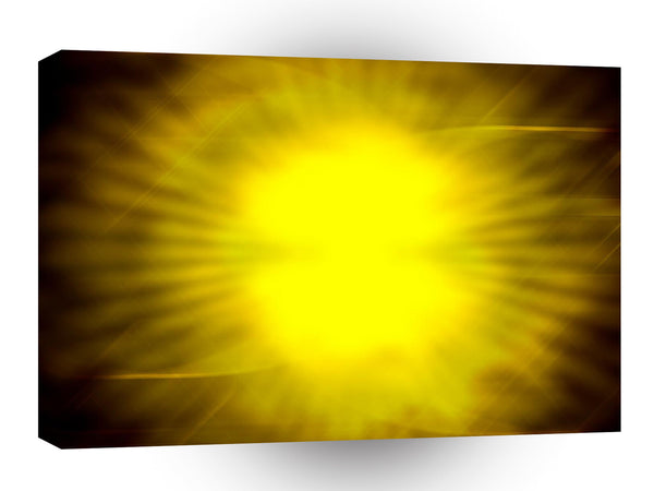 Abstract Bright Yellow Sun Explosion A1 Xlarge Canvas